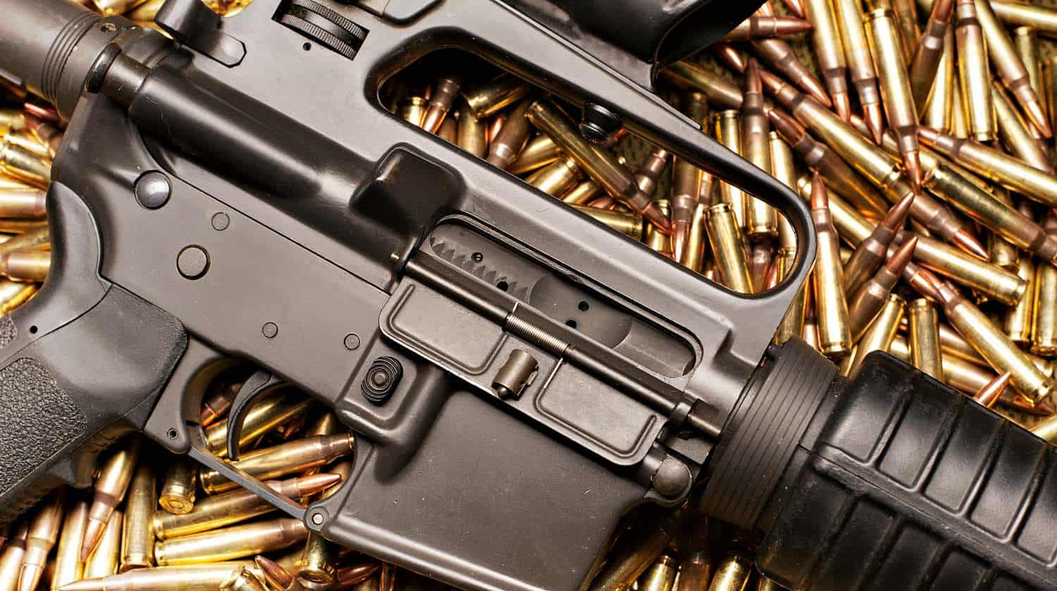 Featured | AR15 with .223 ammunition | AR 15 Lower Receiver And Ammunition | Basics Of The AR-15 Part 2
