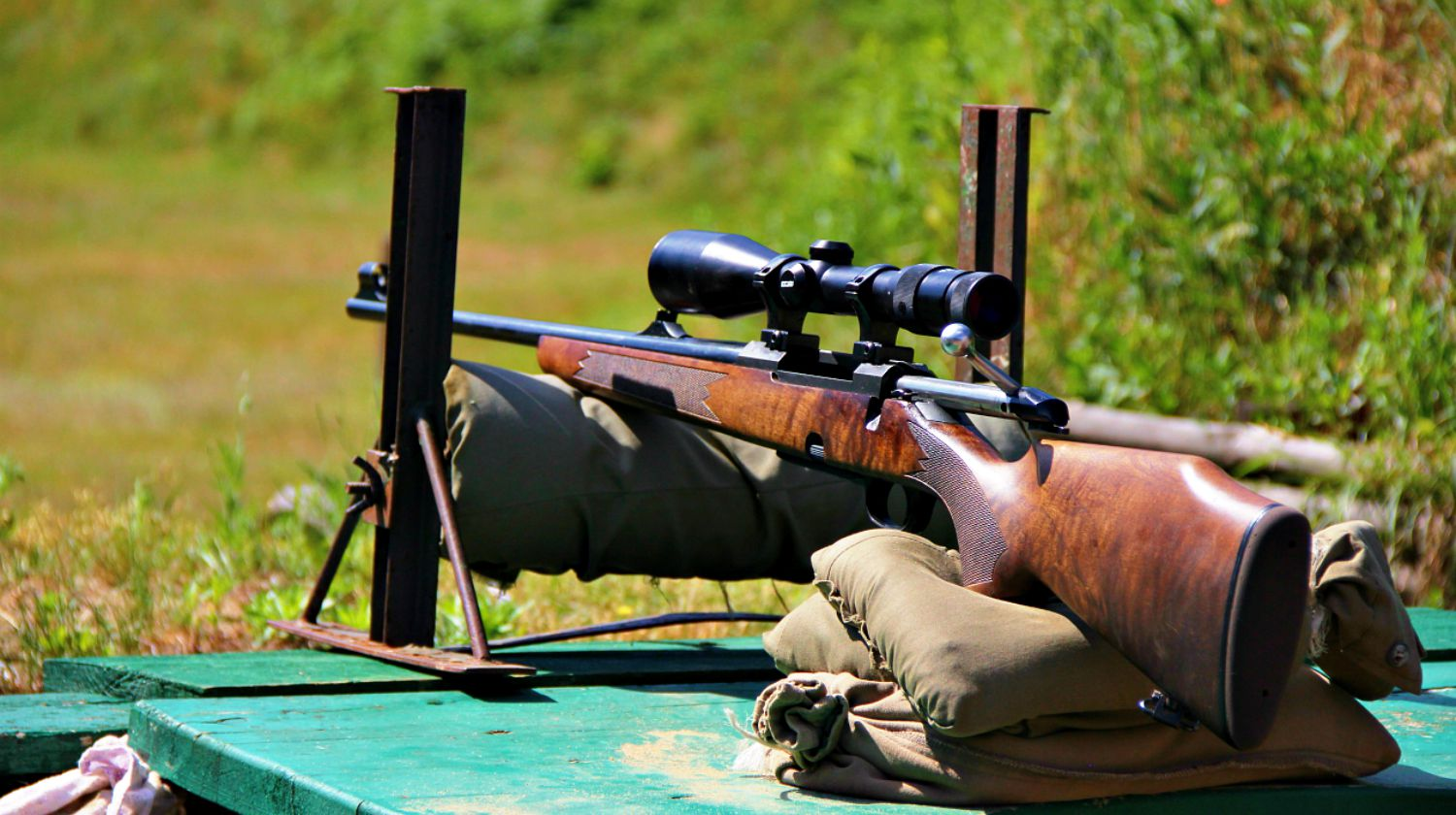 Hunting rifle while adjustment at a shooting range | Chronograph And Ballistics | Long Range Hunting Tips | Featured