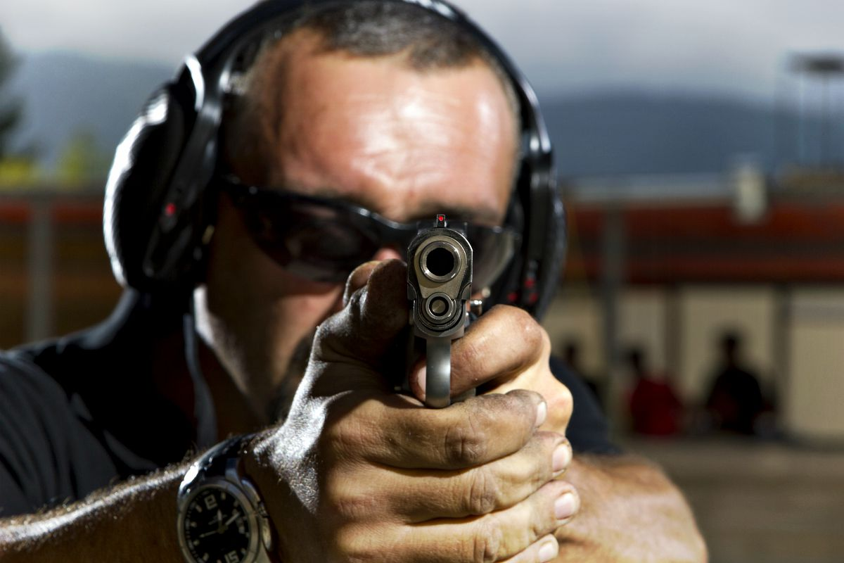 Man shooting on an outdoor shooting range | Shooting Fundamentals
